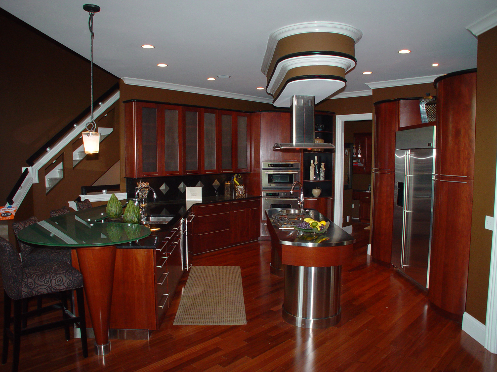 outstanding modern red kitchen | Contemporary/Modern Red Wood Kitchen – Mike's Woodworking