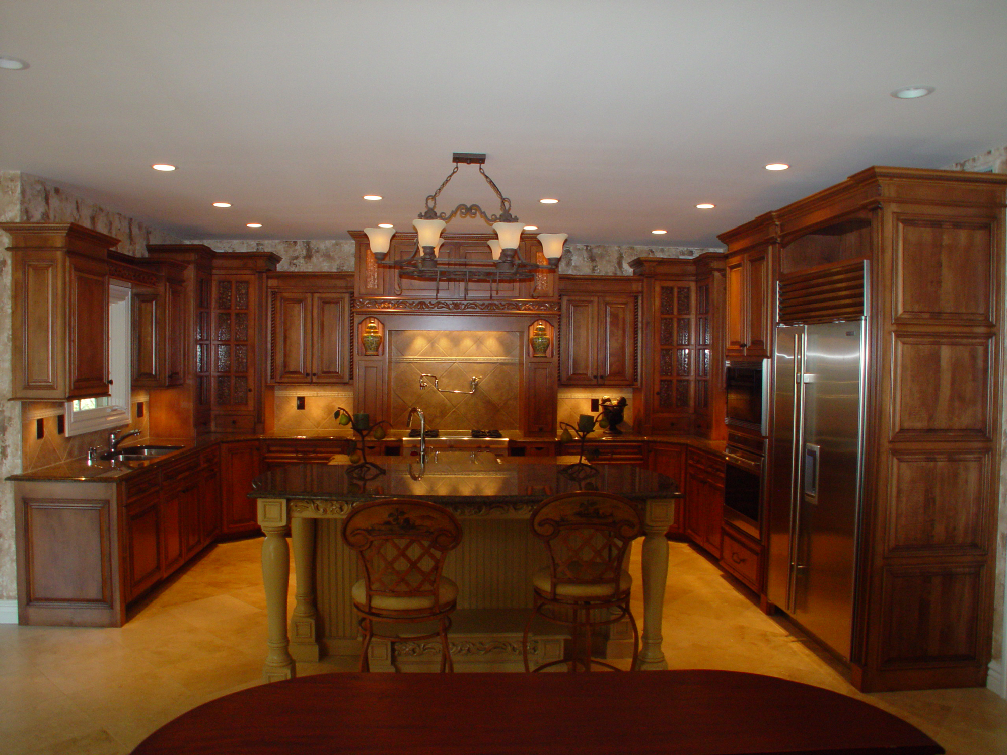 traditional kitchen fancy island mike s woodworking