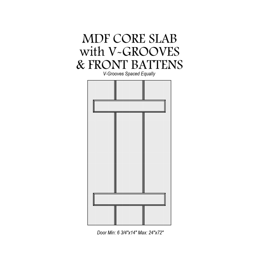 Favorite  sc 1 st  Mikeu0027s Woodworking & Door Catalog MDF Core Slab with V-Grooves and Front Battens u2013 Mikeu0027s ...