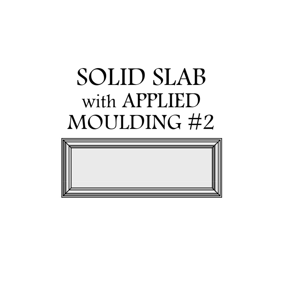 door catalog solid slab with applied moulding 2 drawer